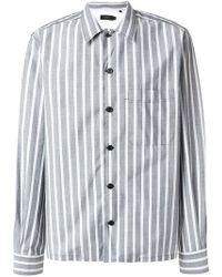 JOSEPH - Striped Button Down Shirt - Lyst