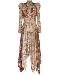 Zimmermann - Unbridled Chevron Silk Dress - Lyst