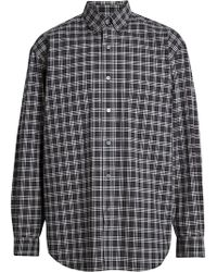 Burberry - Small Scale Check Cotton Shirt - Lyst