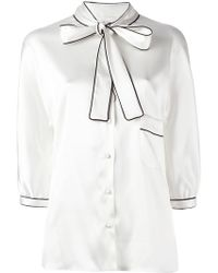 Dolce & Gabbana - Pussy Bow Blouse - Lyst