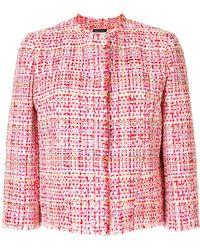 Alexander McQueen - Cropped Tweed Jacket - Lyst