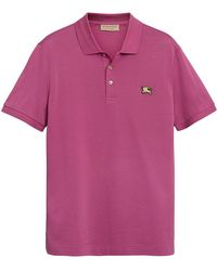 Burberry - Piqué Polo Shirt - Lyst