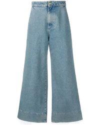 Loewe - Jeans Anchos De Denim De Algodón - Lyst