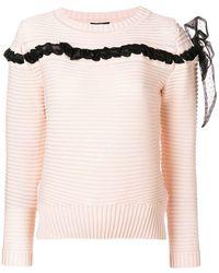 Class Roberto Cavalli - Bow Detail Sweater - Lyst