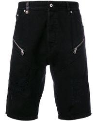 Just Cavalli - Zip-embellished Denim Shorts - Lyst