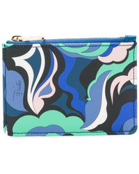 Emilio Pucci - Abstract Print Zipped Purse - Lyst
