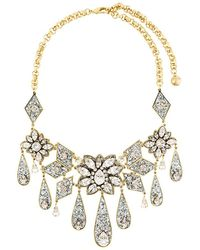 Shourouk | Teardrop Floral Necklace | Lyst