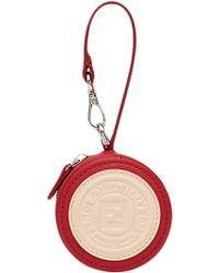 Fendi - Red And Beige Logo Bag Charm - Lyst