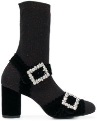 Suecomma Bonnie - Ankle Strap Sock Boots - Lyst