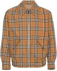 Burberry - Reversible Rainbow Vintage Check Harrington Jacket - Lyst