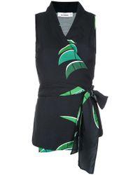 Amir Slama - Tropical Print Wrap Style Blouse - Lyst
