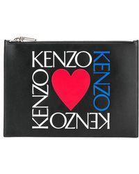 KENZO - Bolso de mano con logo estampado - Lyst