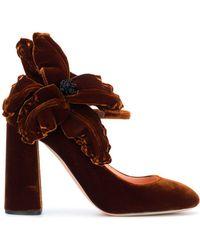 Rochas Zapatos de tacón de terciopelo