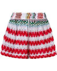 Missoni - Zig Zag Pattern Beach Shorts - Lyst