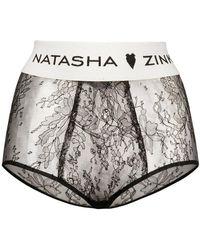 Natasha Zinko - Banded Lace High Waist Briefs - Lyst