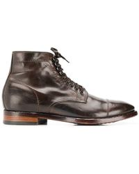 39779616073 Lyst - Officine Creative Bronx Leather Boots in Brown for Men