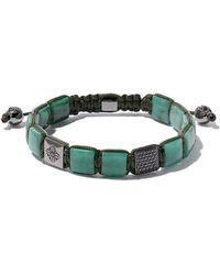 Shamballa Jewels - 18kt White Gold, Emerald & Black Diamond Bracelet - Lyst