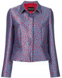 Emporio Armani - Boxy Letter-print Jacket - Lyst