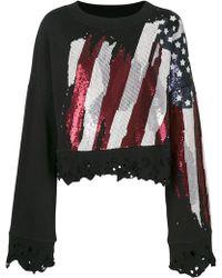 Amen | Distressed Flag Embellished Sweatshirt | Lyst