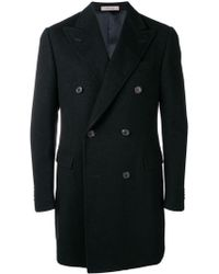 Corneliani - Classic Buttoned Coat - Lyst