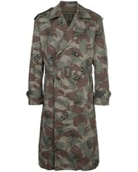 Hysteric Glamour - Mixed-print Military Coat - Lyst
