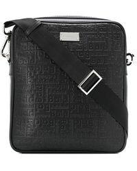 Baldinini Embossed Logo Plaque Messenger Bag - Black
