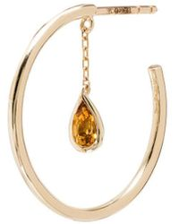Yvonne Léon - Creole Pampille Citrine Hoop Earring - Lyst