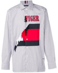 Tommy Hilfiger - Embroidered Striped Shirt - Lyst