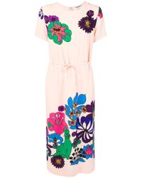 Essentiel Antwerp - Run Gathered Waist Floral Dress - Lyst