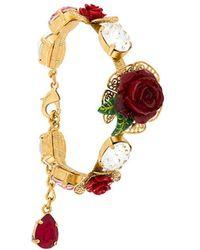 Dolce & Gabbana - Crystal Rose Bracelet - Lyst