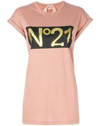 N°21 - Oversized Logo T-shirt - Lyst