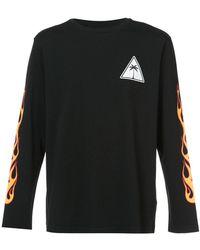 Palm Angels - Palms & Flames Long-sleeve T-shirt - Lyst