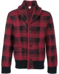Kent & Curwen - Plaid Large Collar Jacket - Lyst