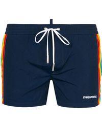 DSquared² | Rainbow Web Swimming Shorts | Lyst