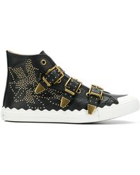 Chloé - Kyle Buckled Sneakers - Lyst