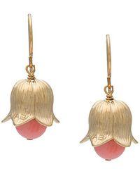Aurelie Bidermann - Pink Bead Tulip Earrings - Lyst