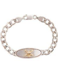 Loree Rodkin - 18kt Gold Skull Chain Link Bracelet - Lyst