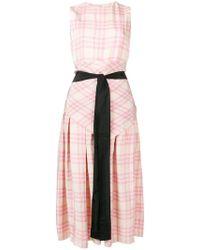 Sara Lanzi - Checked Print Dress - Lyst