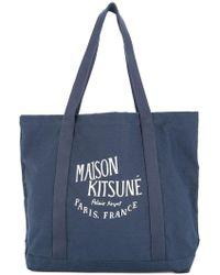 Maison Kitsuné - Logo Shopper Tote Bag - Lyst
