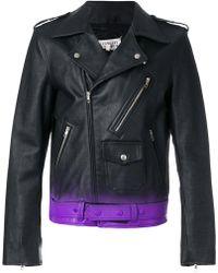 Maison Margiela | Gradient-effect Biker Jacket | Lyst