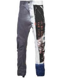 Boris Bidjan Saberi 11 - Printed Straight Trousers - Lyst