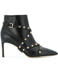 Valentino - Garavani Studwrap Ankle Boots - Lyst