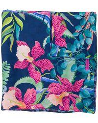 Ferragamo - Floral Print Scarf - Lyst