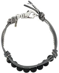 Emanuele Bicocchi - Beaded And Woven Bracelet - Lyst