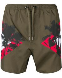 Neil Barrett - Side Panelled Swim Shorts - Lyst