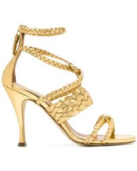 Twin Set - Woven Stiletto Sandals - Lyst