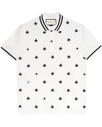 Gucci - Polo con abejas y estrellas - Lyst