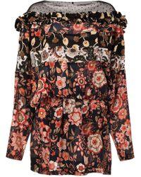 Faith Connexion - Floral Bat Print Dress - Lyst