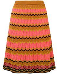 M Missoni - Pointelle-knit Zigzag Skirt - Lyst