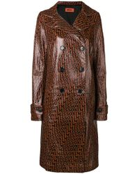 Missoni - Leather Trench Coat - Lyst